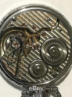 1919 Hamilton 992 Mod 2 16S 21J Pocket Watch Railroad Display Salesman Case Runs