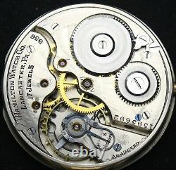 1921 Hamilton Grade 956 16s 17j Pocket Watch GF OF Swing-Out Case Runs