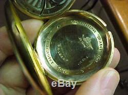 1922 HAMILTON ORIGINAL BOX 17j RUNNING 25YR GOLD FILLED ANTIQUE POCKET WATCH. RUN