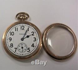 1922 Hamilton 23 jewel 16 size Open Face Pocket Watch Model 3 / Grade950