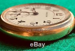 1924 Hamilton 992L 21j Size 16s 10k gold filled Montgomery Dial Bar over Crown