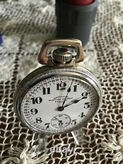 1924 Hamilton Electric Railway Special pocket watch. Runs accurately
