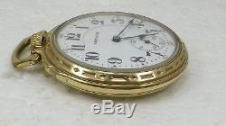 1925 Hamilton 10k Gold Filled 992 16s 21j Railroad Pocket Watch Running