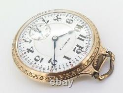 1925 Hamilton 21 Jewel G/F OF Railroad Cal 992 Size 16s Fancy Case Pocket Watch