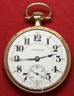 1925 Hamilton 950 16s 23j Lever Pocket Watch RAILROAD Runs Needs Service