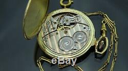 1926 Antique14k gold filled Hamilton 912 Pocket watch & include chain