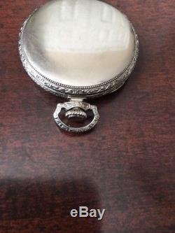 1926 Hamilton 23J Size 12S Grade 922 Open Face Pocket Watch 14k Gold Filled Whit