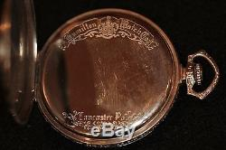 1926 Hamilton 922 23J Solid 14k White Gold Pocket Watch Great Find Real Nice