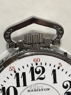 1926 Hamilton 992 16S 21J Pocket Watch Railroad Display Salesman Case Accurate