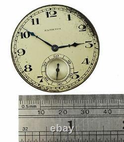 1927 Hamilton Art Deco 23 Jewel Model 2 Grade 922 Pocket Watch Movement Working