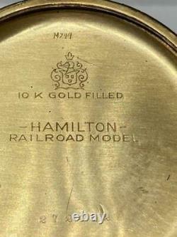 1927 Hamilton Railroad Pocket Watch 992 16s 21j Runs 10k Gold Fill Model 2 Monty