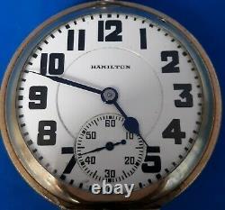1929 Hamilton 992 Grade, Size 16, Pocket Watch. FREE 3 DAY PRIORITY SHIPPING