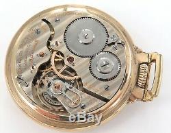 1930 Hamilton 992 16s 21j 5 Adjusts Elinvar Railroad Grade 10k G. F Pocket Watch