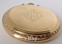 1931 Hamilton Grade 992E Railroad Grade Pocket Watch 21j Ruby, 16s GF open face