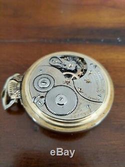 1934 Ball Hamilton 16s 21 Jewel Grade 999P Gold Filled Railroad Pocket Watch