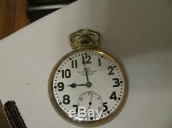 1934 Hamilton Official Standard 999 Ball 16s 21 Jewel Pocket Watch