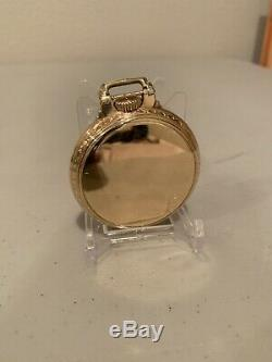 1934 Hamilton Pocket Watch 992E Elinvar 21 Jewel 10K Gold Filled Wadsworth Works