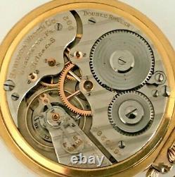 1935 Hamilton Railroad Grade 992E Pocket Watch 21j Ruby 16s 10K Gold Filled OF