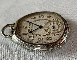 1935 Scarce Hamilton 912, Mdl 2, 17j, Art Deco Pocket Watch in 14k WGF Case