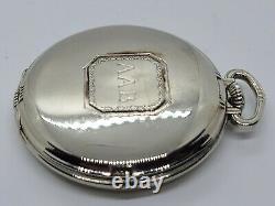 1936 HAMILTON 912 Art Deco 14K G. F. 17J Pocket Watch withRotating Seconds Sub Dial