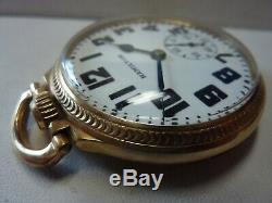 1937 Hamilton TRAFFIC SPECIAL 974 Special Movement Pocket Watch / Original Box