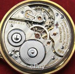 1938 Hamilton 992E 16s 21j Lever Set Pocket Watch RAILROAD Grade Runs