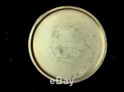 1938 Packard Motor Car Company 10 Years Service 14k Hamilton Gold Pocket Watch