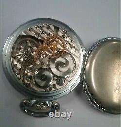 1941-42 Hamilton 16 size 22 jewel Open Face Pocket Watch 4992B Keeps time