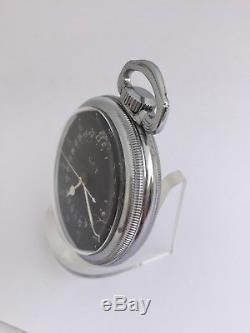 1941 Hamilton 4992B Hack 22J 16s Military GCT Navigational Pocket Watch Bin$425