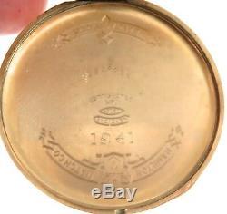 1941 Hamilton 917 10s 17j 3 Adjusts 14k Gf Pocket Watch