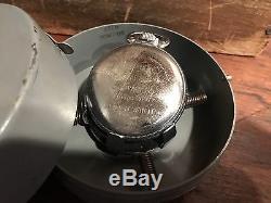 1941 Hamilton GCT 22j WWII 4992B Military Army Navigation Pocket Watch & Case