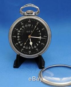 1941 Hamilton Gct Military Navigation 4992b 16s 22j Pocket Watch