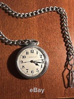 1941 WW2 Hamilton 22 Jewell Antique Pocket Watch 4992B U. S. Govt 4C16978