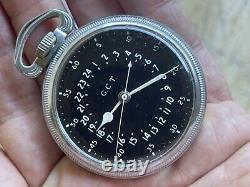 1942 GCT Hamilton AN-57401 24 Hours 4292B 22 Jewels Navigator Military WW2 HUCK