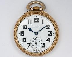 1942 Hamilton 16s 21jewel Adj. 992B Pocket Watch with HAMILTON Case