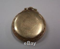1942 Hamilton 21 jewel 16 size 992B Railroad Open Face Pocket Watch Keeps Time
