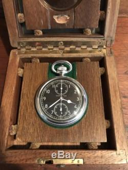 1942 Hamilton Chronograph WWII Model 23 Military Navigation Pocket Watch & Case