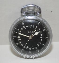 1942 Hamilton GCT AN-5740 WWII Military Navigation Pocket Watch 22J Cal. 4992B