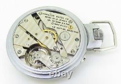 1942 WWII Hamilton Lancaster U. S. A Model 22 21 Jewel 71mm Deck Pocket Watch