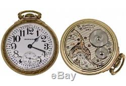 1943-A 16 size open face Railroad pocket watch by Hamilton
