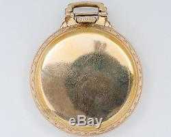 1943 Hamilton 16s 21jewel Adj. 992B Pocket Watch with Bar over Crown Case