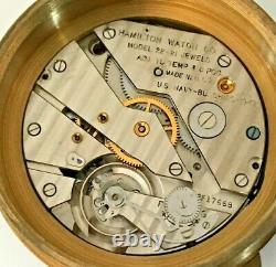 1943 Hamilton USA Naval Chronometer Pocket Watch 21j, 36s Wind Indicator