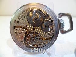 1943 Ordinance Dept Pocket Watch Hamilton 992b 24 Dial Runs US Gov Military WW2