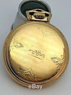 1944 BALL HAMILTON 999B Official RailRoad Grade 21J 16S 10k GF Case Pocket Watch