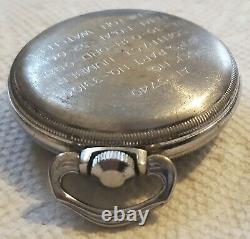 1944 Hamilton GCT 22j WWII 4992B Military Army Navigation Pocket Watch