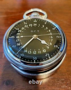 1944 Hamilton WWII GCT G. C. T 24 hour Navigator Military Watch cal 4992B / 992B