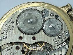 1945 S16 21J Hamilton 992B Railway Special Pocket Watch