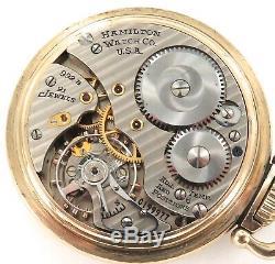 1948 Hamilton Railway Special 992b 16s 21j 6 Adjusts 10k G. F. Pocket Watch