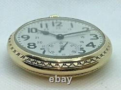1951 Hamilton 992B Railway Special 24 Hr. Dial, BOC Case Pocket Watch SERVICED