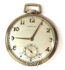 1951 Vintage Hamilton 14K Gold #921 10S 21J 5Pos Pocket Watch withBakelite Box